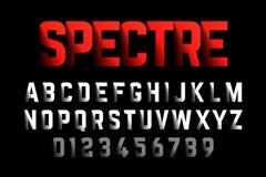 Смелейший шрифт стиля с влиянием тени Стоковая Фотография RF