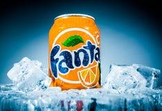 Смогите апельсина Fanta стоковое фото rf