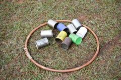 Смогите в обруче hula для работать стоковые изображения