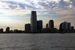смогите горизонт увиденный парком york сумрака расстояния главного города значительно новым Стоковое фото RF