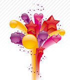 смогите загонять различные флористические используемые цели в угол иллюстрации Стоковые Фотографии RF