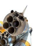 смогите закрыть космос корабля сопла увиденный ракетой стоковая фотография rf