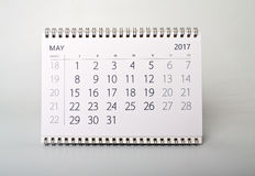смогите Календарь года две тысячи 17 Стоковые Фотографии RF