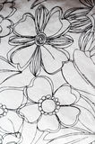 смогите различная флористическая используемая текстура целей иллюстрации Стоковое Фото