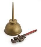 смогите смазать ключ для труб Стоковые Фотографии RF