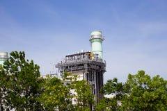 смогите совместить турбину завода входной трубы газа фильтра вытыхания цикла увиденную силой Стоковые Изображения