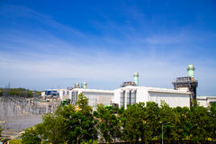 смогите совместить турбину завода входной трубы газа фильтра вытыхания цикла увиденную силой Стоковые Фотографии RF