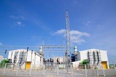 смогите совместить турбину завода входной трубы газа фильтра вытыхания цикла увиденную силой стоковая фотография rf