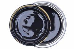 Смогите черного взгляд сверху краски стоковое изображение rf