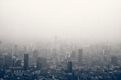 Смог в Шанхае стоковые фотографии rf