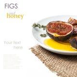 Смоквы и мед Стоковая Фотография RF