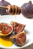 Смоквы и мед Стоковое Изображение