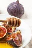 Смоквы и мед Стоковое Изображение RF