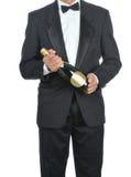 смокинг человека шампанского Стоковое Изображение RF