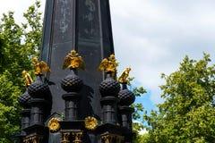 СМОЛЕНСК, РОССИЯ - 11-ОЕ ИЮНЯ 2018: Памятник для защитников Смоленска 4-ое-5 августа в 1812 в саде Lopatinsky стоковые изображения rf