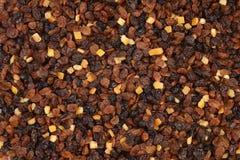 Смородины и султанши изюминок с предпосылкой candied корки Стоковое Изображение