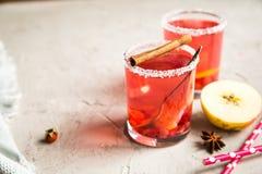 Смородина Morse красная с циннамоном и лимоном Стоковая Фотография