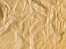 сморщенная бумага мешка коричневая Стоковые Изображения