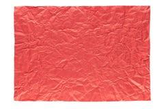 Сморщенная красная страница Стоковая Фотография RF