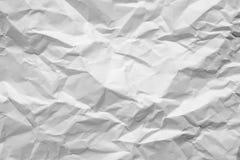 Сморщенная предпосылка белой бумаги Стоковые Фотографии RF