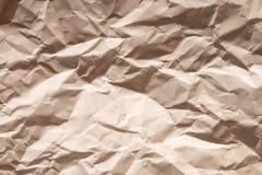 Сморщенная предпосылка бумаги Брайна Стоковое фото RF