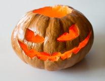 Сморщенная тыква хеллоуина Стоковые Изображения