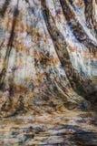 Сморщенный фон холста с космосом экземпляра Стоковое Изображение RF