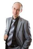 смотреть бизнесмена вскользь хороший изолированный молод Стоковые Фото