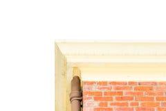 Смотреть вверх на доме кирпича изолированном на белой предпосылке Стоковое фото RF