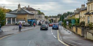 Смотреть вниз с новой дороги в Chippenham стоковые изображения rf