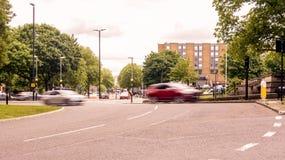 Смотреть вниз с пути c Бристоля Англии Redcliff стоковые изображения