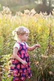 смотреть девушки цветков Стоковое Изображение