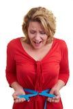 смотреть женщину ленты измерения Стоковые Фотографии RF
