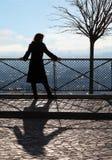 смотреть женщину платформы paris панорамы Стоковые Изображения