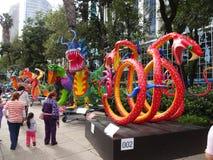 Смотреть красочных животных в Мехико Стоковые Фотографии RF
