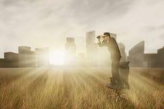 Смотреть к будущему Стоковое Фото