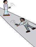 Смотреть мертвого человека с телефоном Стоковая Фотография RF
