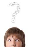 Молодые головные смотря белые метки Стоковое Изображение RF