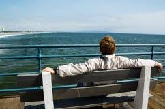 смотреть океан человека Стоковое Фото