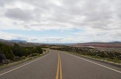 Смотреть ось сценарного шоссе Стоковые Фотографии RF
