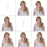 Смотреть принципиальную схему женщины стоковое фото rf