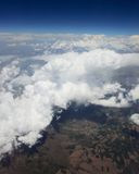 Смотреть через воздушные судн окна. Стоковое фото RF