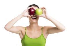 Смотреть яблока Стоковые Изображения