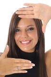 смотрите на обрамленное headshot Стоковое Изображение