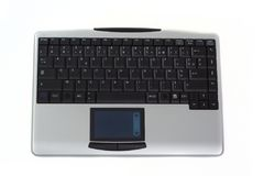 смотрите на радиотелеграф взгляда ПК клавиатуры Стоковая Фотография RF