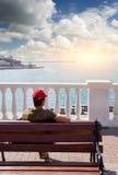 смотрит море Стоковая Фотография