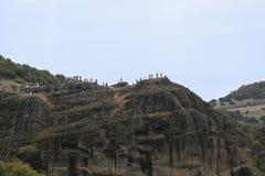 Смотровая площадка в утесах Meteora, Греции Стоковые Изображения