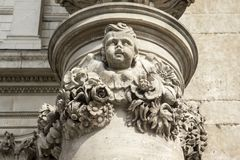 Смотрящ вверх на детали от собора St Pauls, Лондон, Англия, Великобритания, 20-ое мая 2017 стоковое изображение