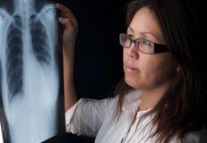 смотрящ женщину луча x Стоковые Изображения RF