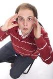 смотрящ удивленного человека Стоковое фото RF